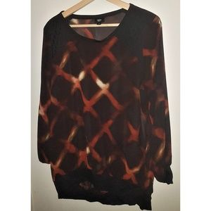 3 for $20 - Mossimo   Sheer Tie dye Blouse